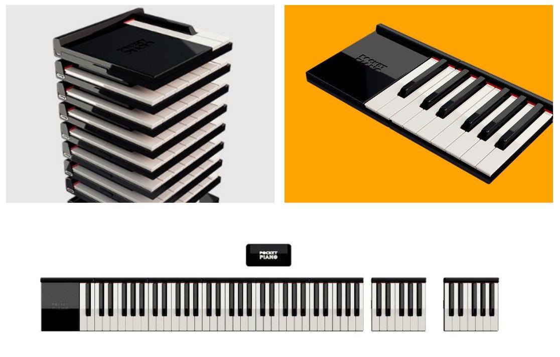 PocketPiano, un piano profesional portátil diseñado por módulos