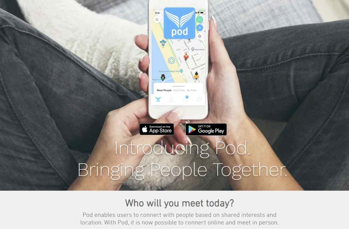 Pod, la nueva red social que desea fomentar los encuentros en persona para compartir actividades
