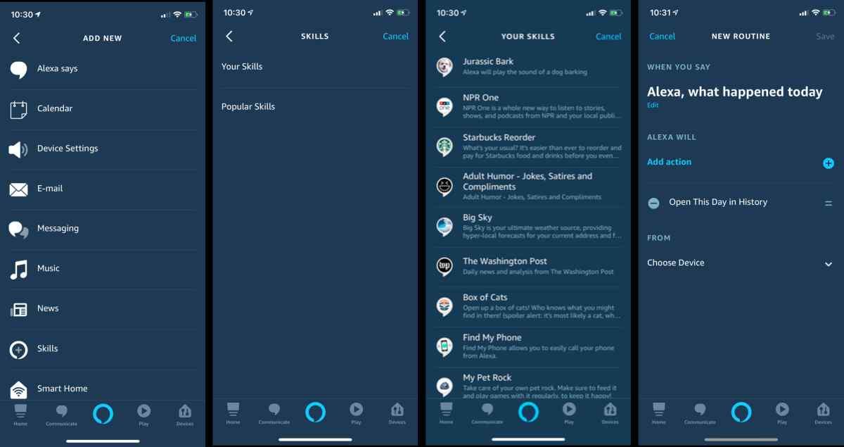Alexa ya permite el uso de habilidades personalizadas dentro de las rutinas