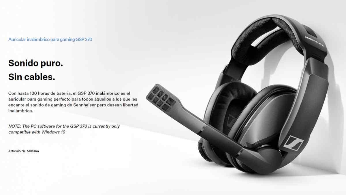 Alta autonomía de hasta 100 horas sin cables, así son los nuevos auriculares inalámbricos gaming de Sennheiser