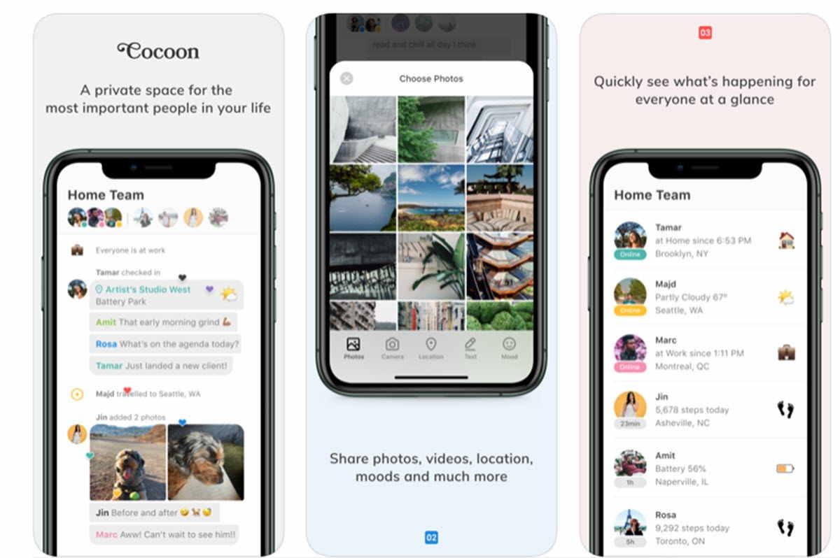 Cocoon, una aplicación privada y exclusiva para familias