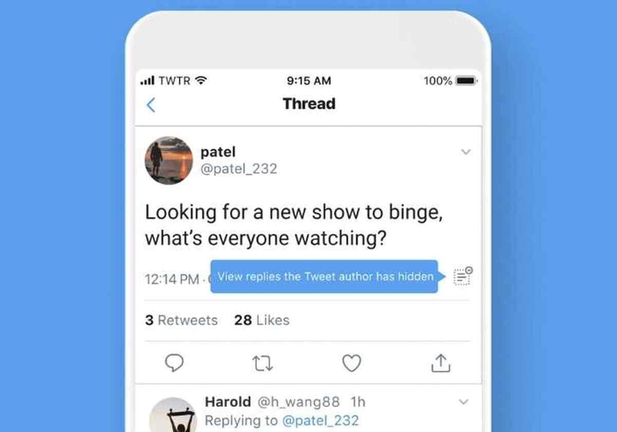 Twitter ya permite a cualquiera ocultar respuestas inadecuadas en sus conversaciones
