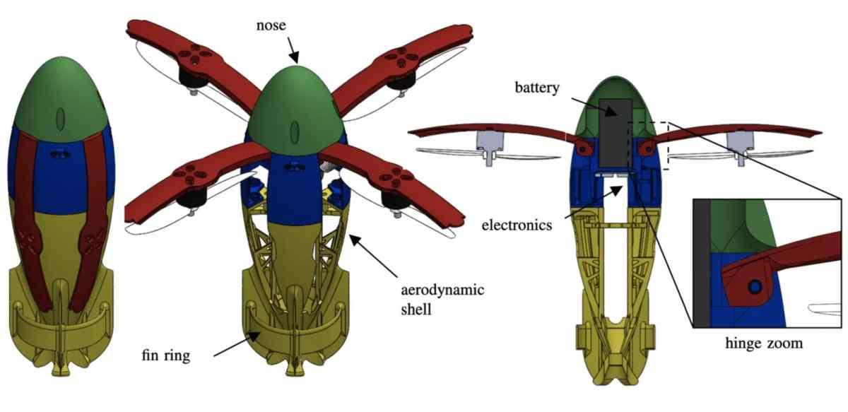 Crean dron de lanzamiento balístico, que permite ser lanzado desde un cañón en pleno movimiento