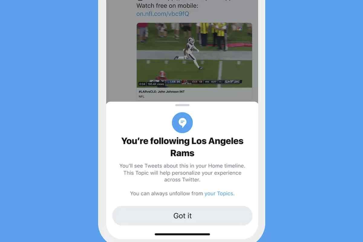 Twitter lanzará una función específica para obtener los tweets más relevantes sobre temas de interés