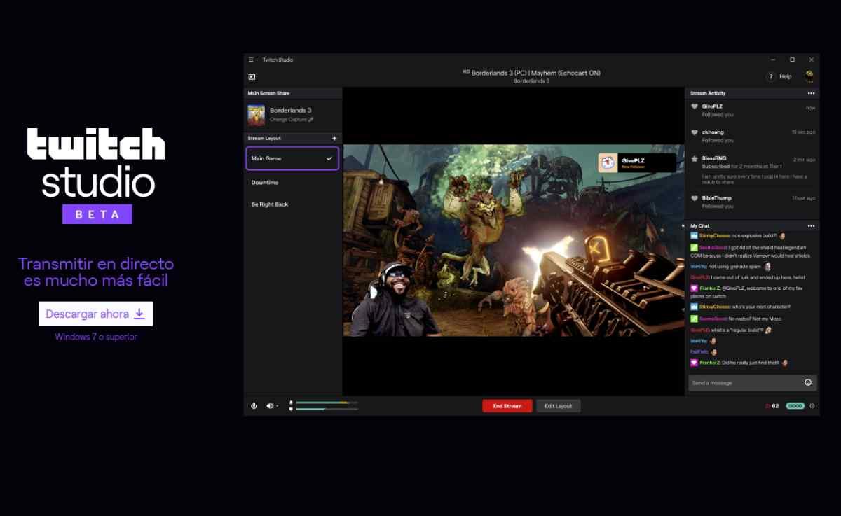 Twitch Studio, para iniciarse en las transmisiones de video-juegos, ya está disponible públicamente