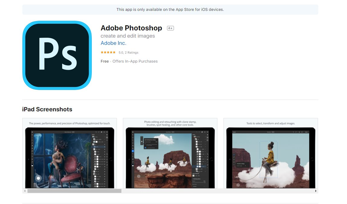 Photoshop para iPad, ya disponible en iTunes