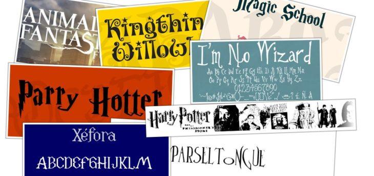11 fuentes gratuitas inspiradas en Harry Potter