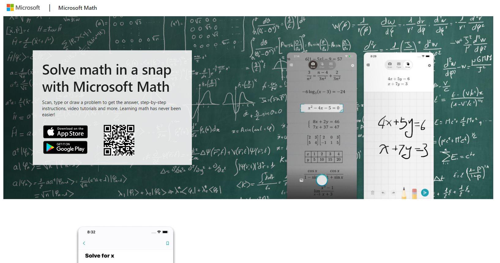 Microsoft Math, la app que nos ayuda a solucionar problemas matemáticos con el móvil