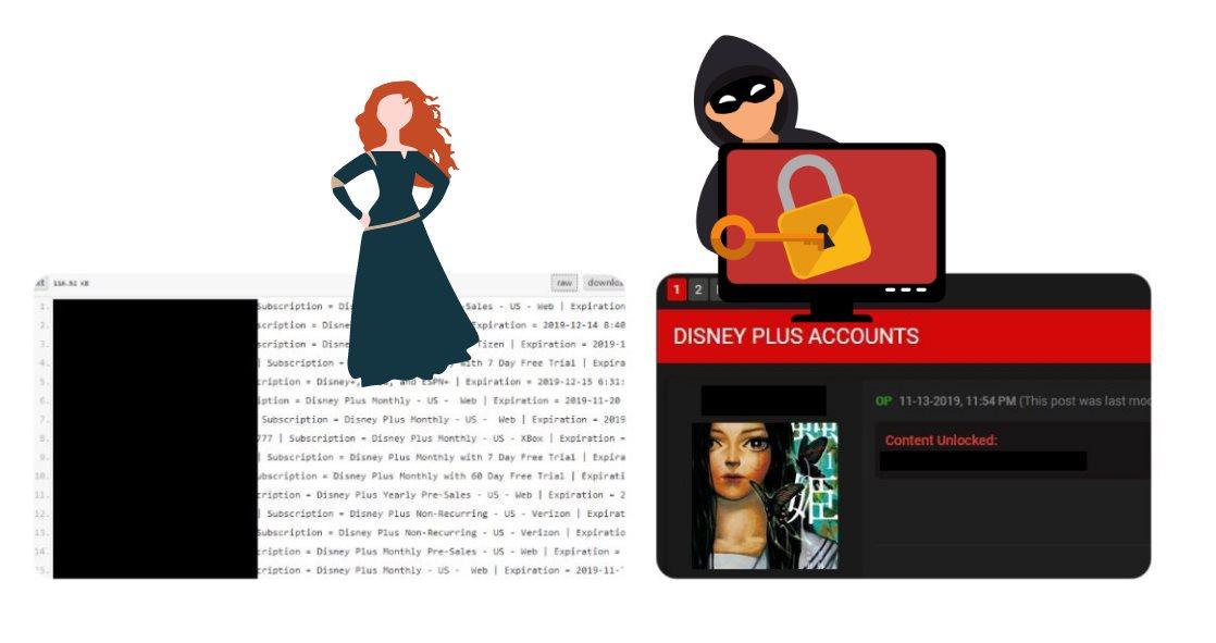 Ya están vendiendo y regalando cuentas de Disney+ hackeadas en Internet