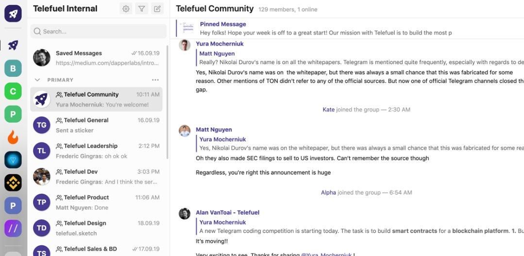 Telefuel, un cliente para Telegram que organiza mejor el contenido