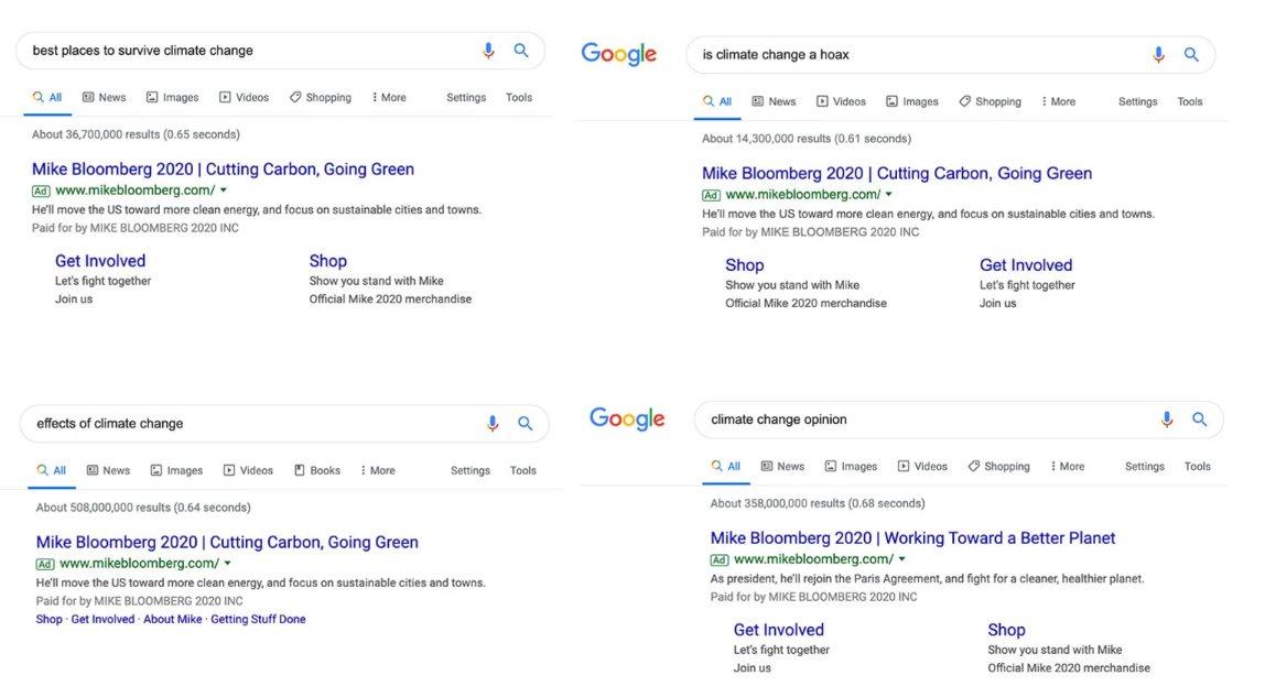 google cambio climático