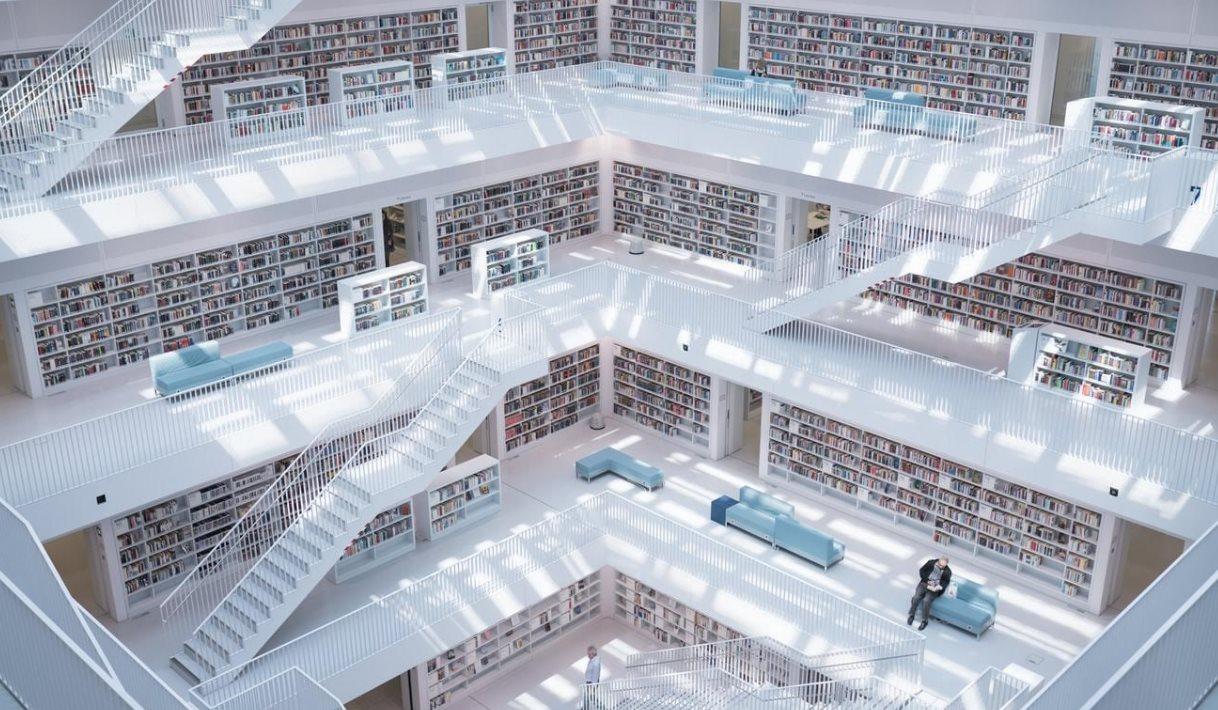 biblioteca desde arriba