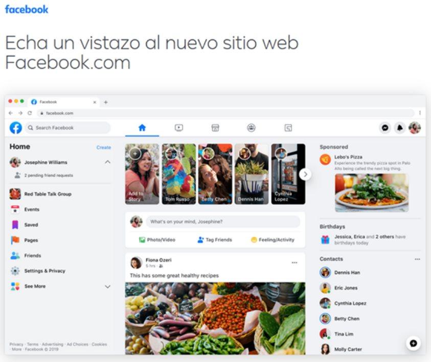 Así será el diseño del nuevo Facebook