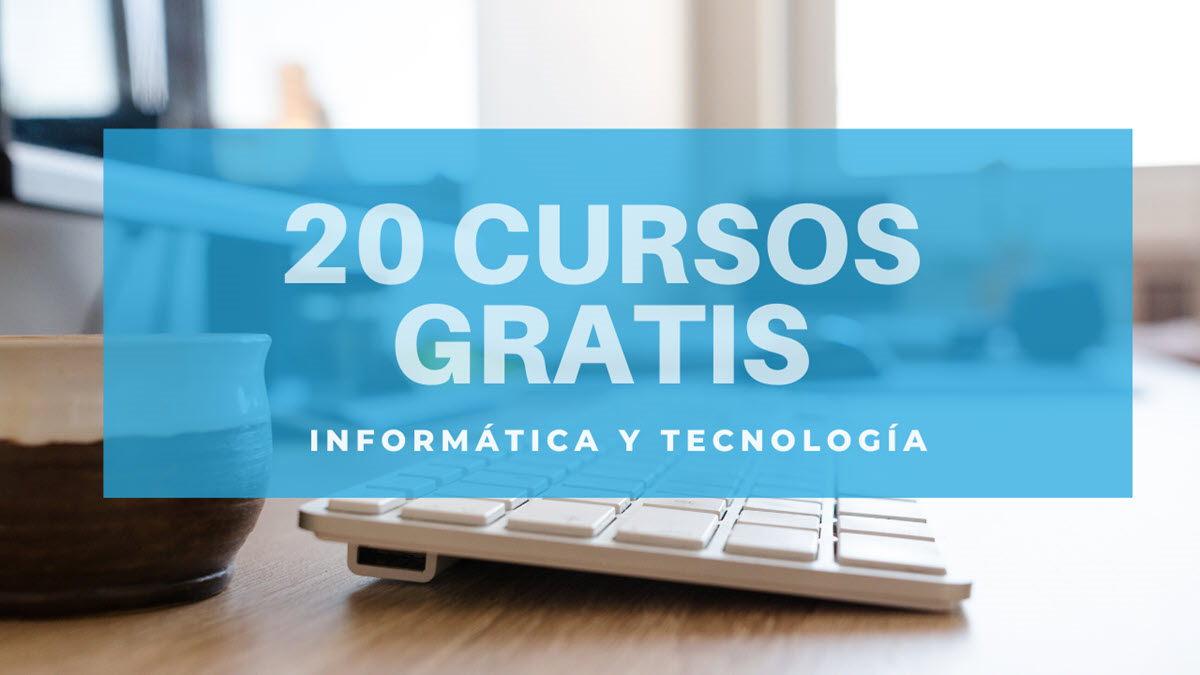 20 cursos gratuitos de tecnología para empezar en diciembre