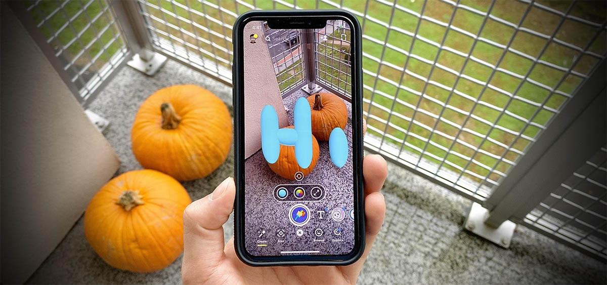 funcion 3D paint de snapchat