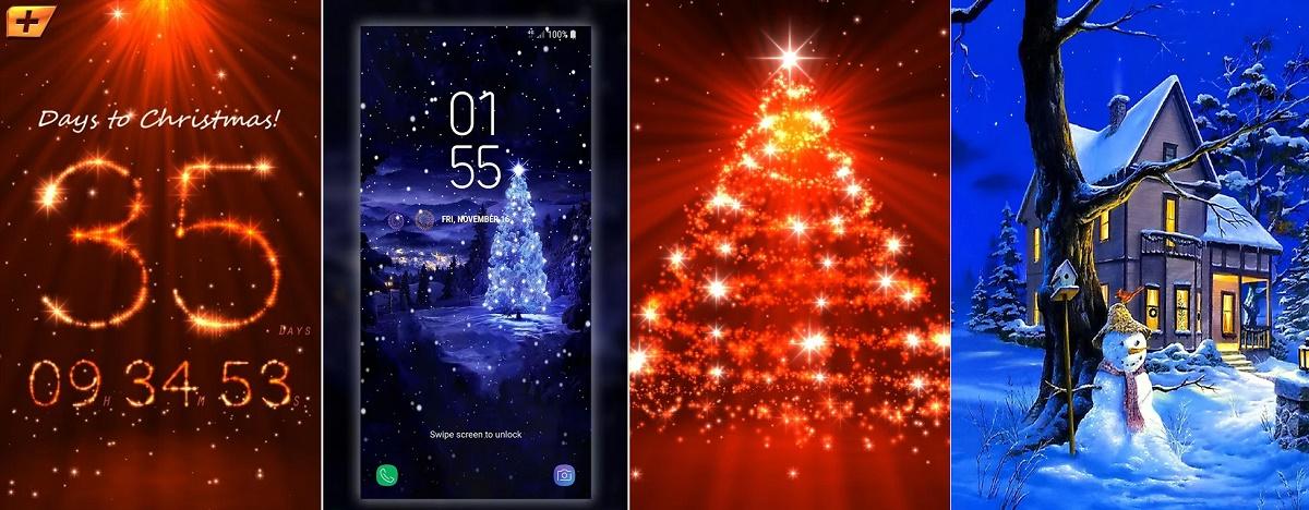 Las mejores apps con fondos de pantallas navideños para Android