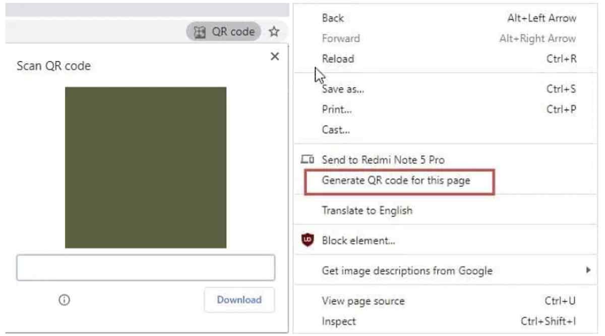 Google trabaja para que se puedan compartir enlaces en Chrome mediante código QR