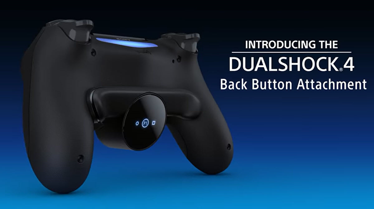 Sony lanza un accesorio para Dualshock 4 que añade dos botones traseros programables