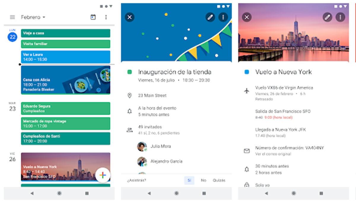 Google Calendar facilita gestionar eventos desde el móvil
