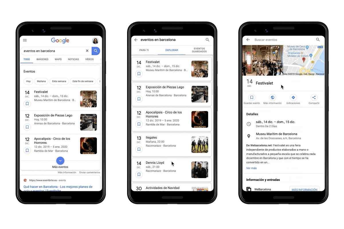 Google lleva las recomendaciones de eventos en sus búsquedas a España y Alemania