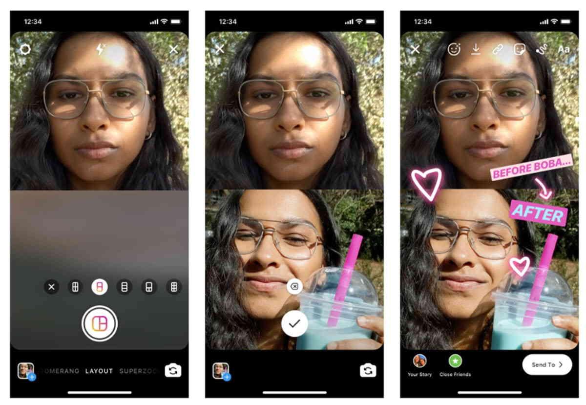 Instagram ahora permite crear collages para tus Historias