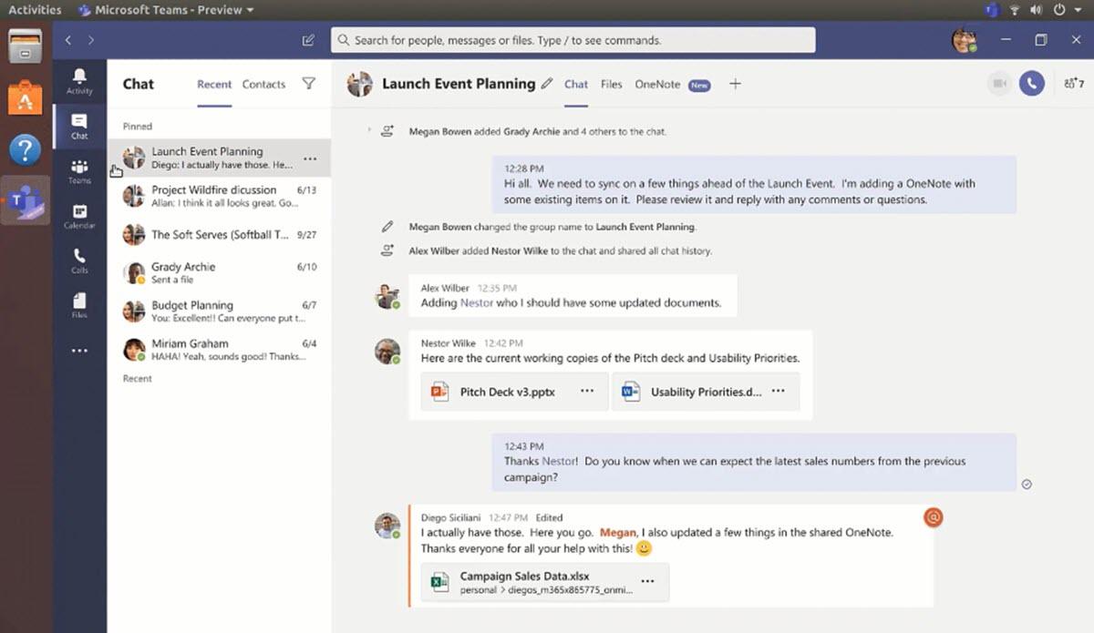 Microsoft Teams se convierte en la primera app Office para Linux