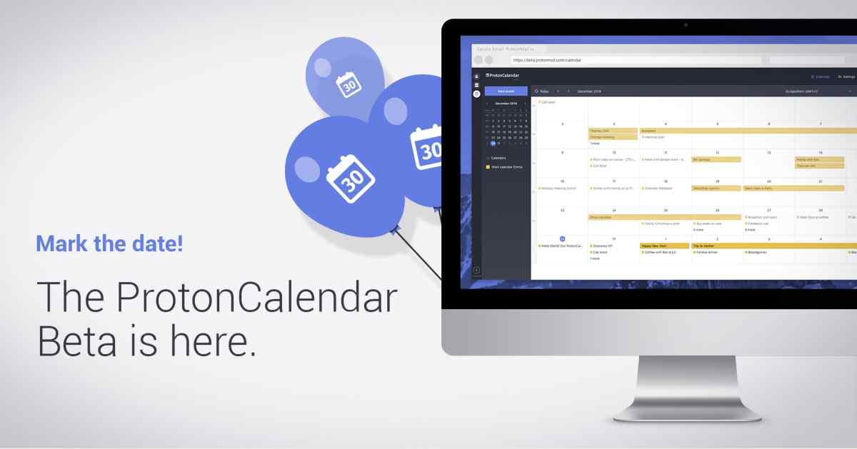 Llega la primera beta de ProtonCalendar, la alternativa a Google Calendar de ProtonMail