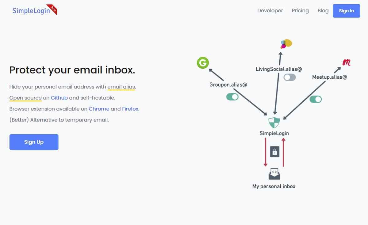 SimpleLogin, más que una alternativa para tener direcciones de correo electrónico desechables