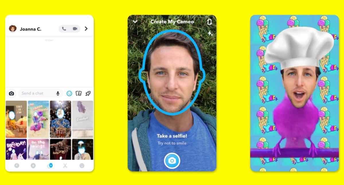 Snapchat Cameos te permitirá insertar tu rostro dentro de divertidos vídeos de corta duración