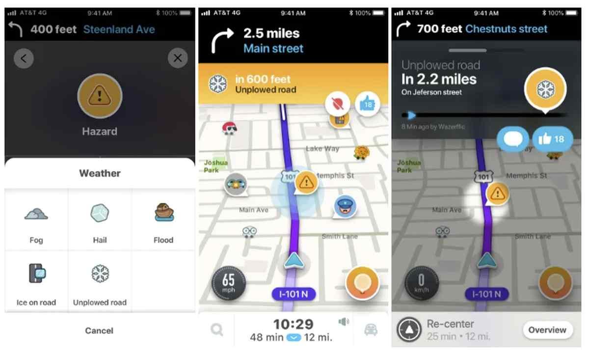 Waze ahora ofrecerá advertencias de Nieve en Carretera