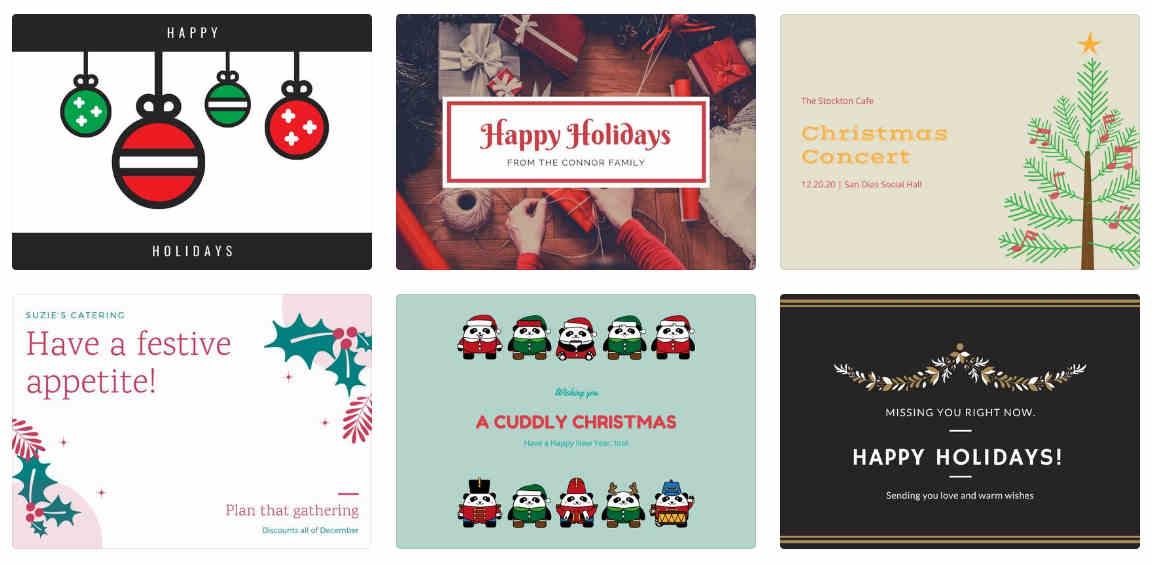 Canva postales navidad