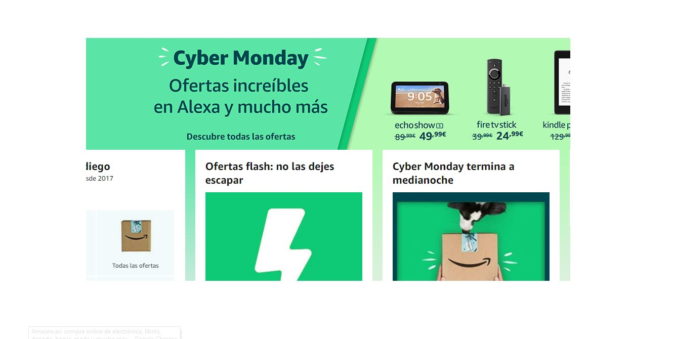 Las ofertas más destacadas de Amazon en Cyber Monday