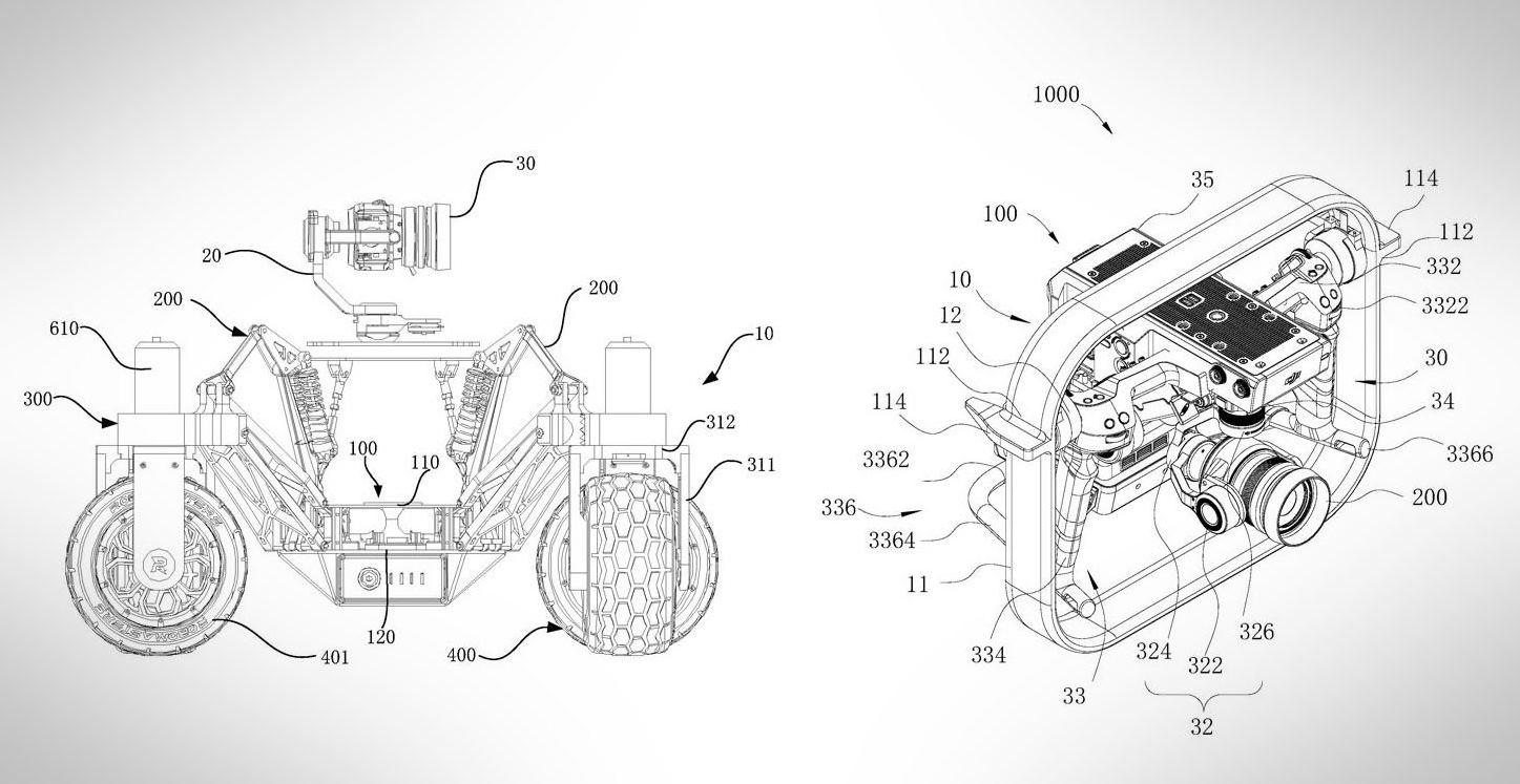 DJI presenta patente de vehículo terrestre, no solo quieren hacen drones