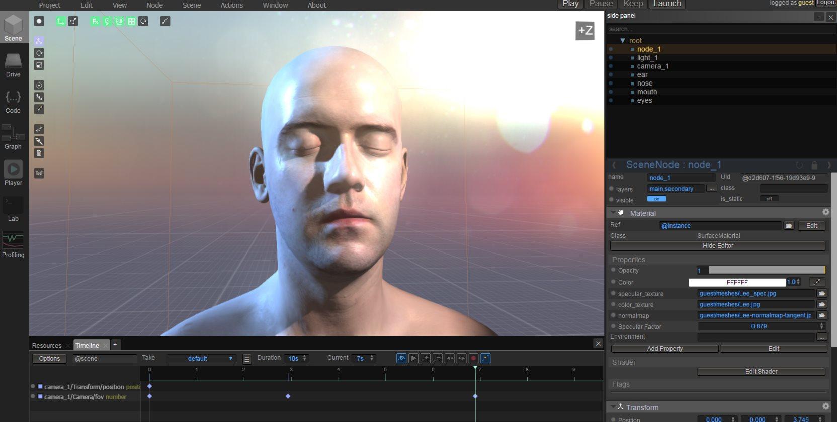 WebGLStudio: Un completo editor 3D basado en la web
