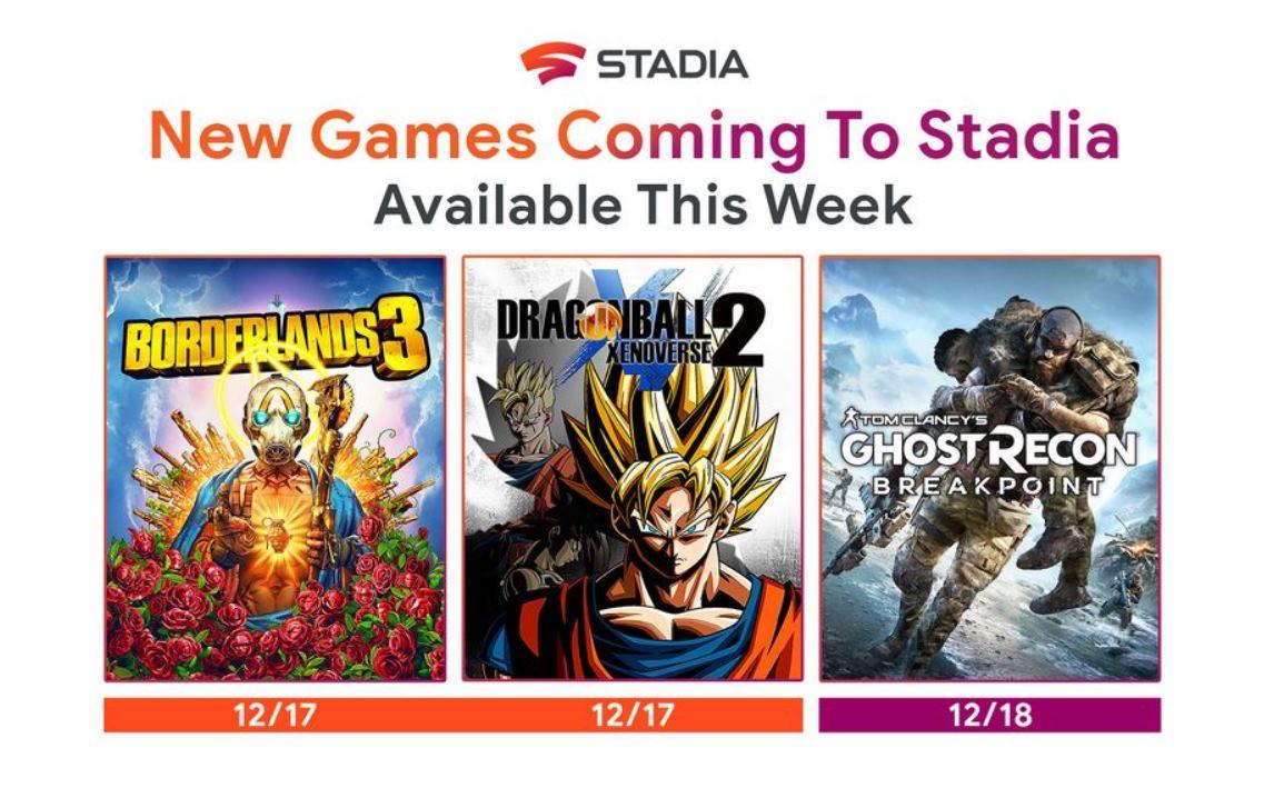 Google entrega el último lote de juegos para su plataforma Stadia