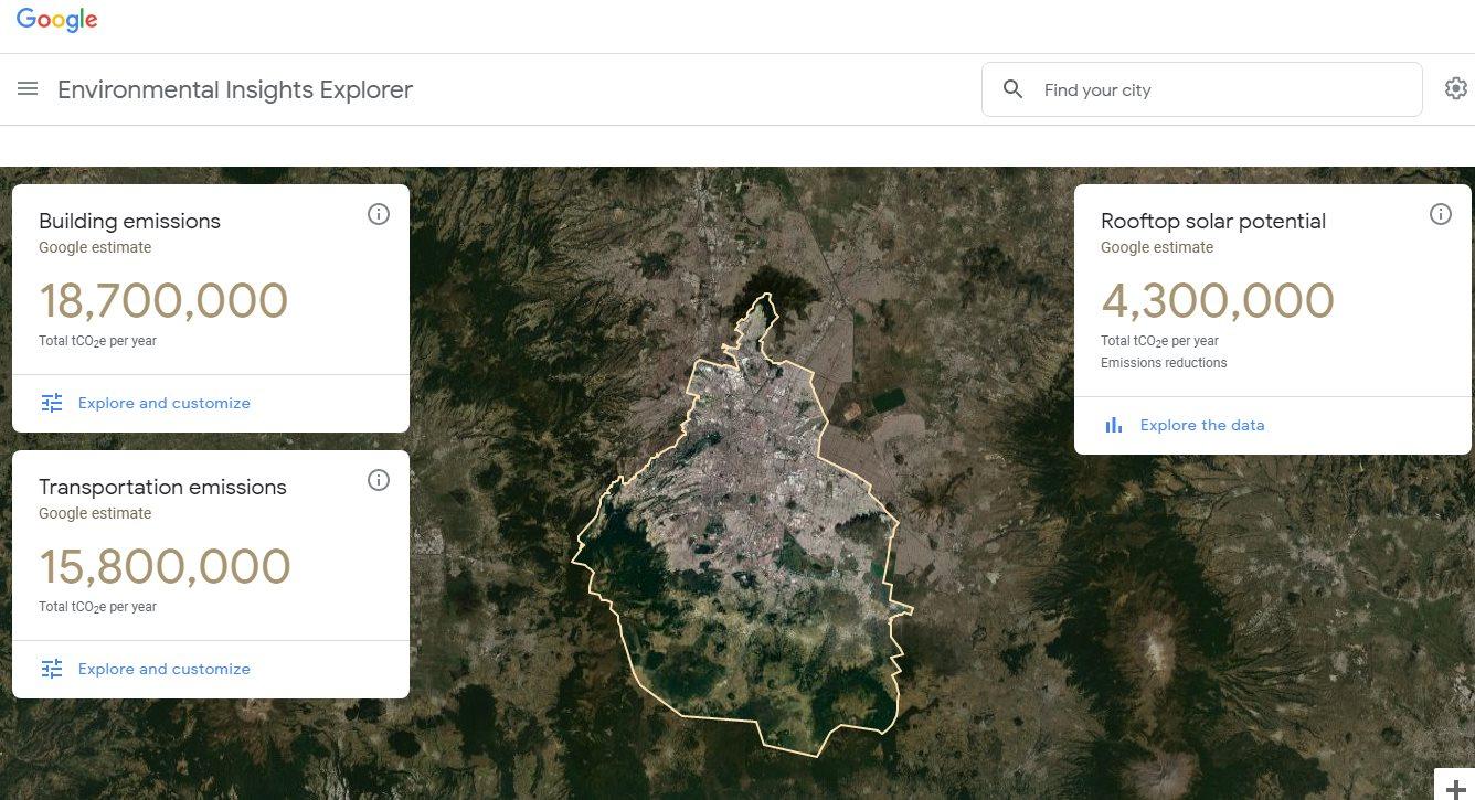 Google ya muestra datos ambientales de algunas ciudades de México
