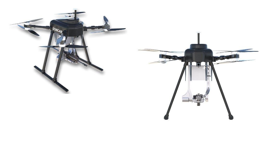 Drones asesinos armados con metralletas