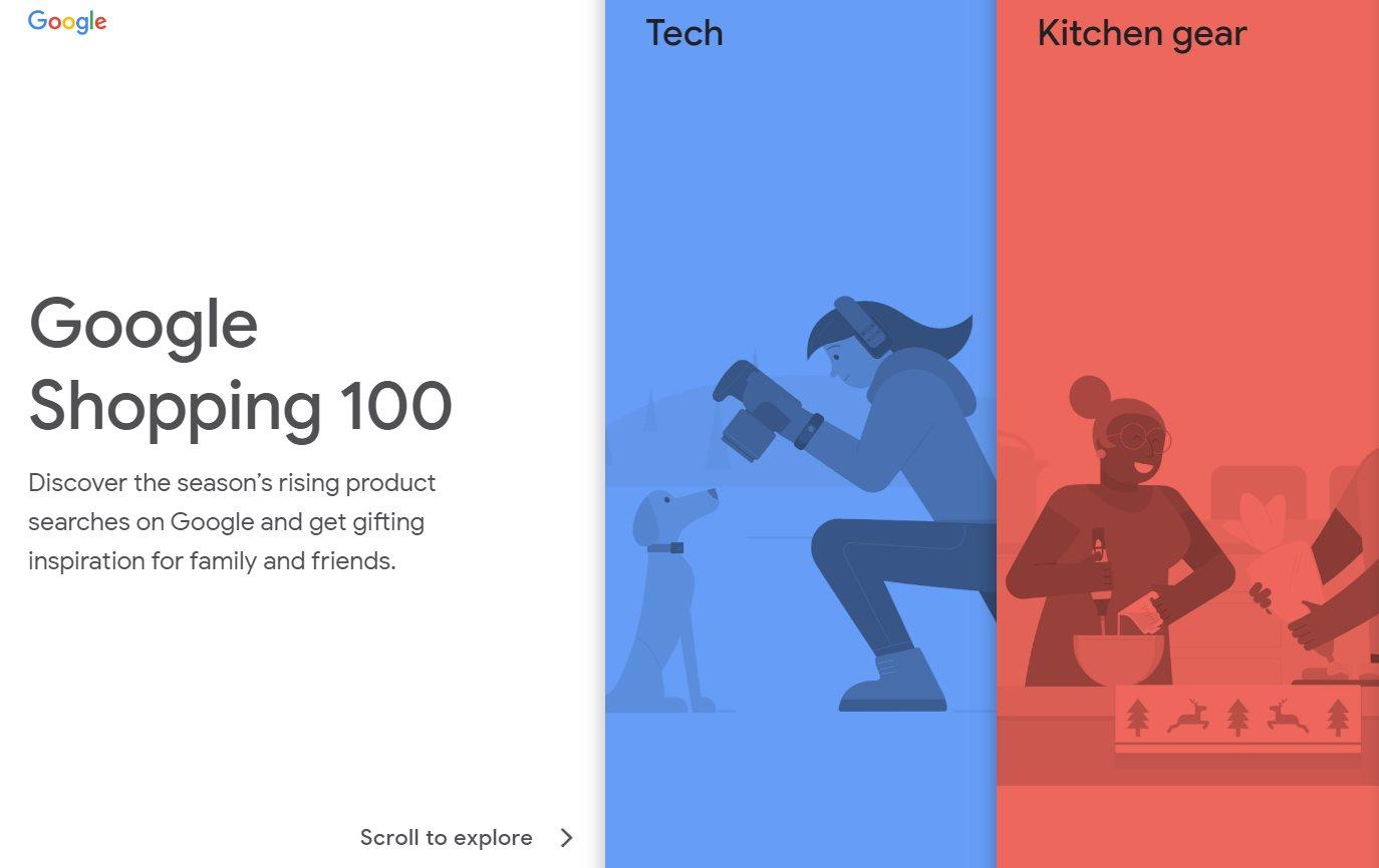 Google presenta Shopping 100, con lo más vendido este año