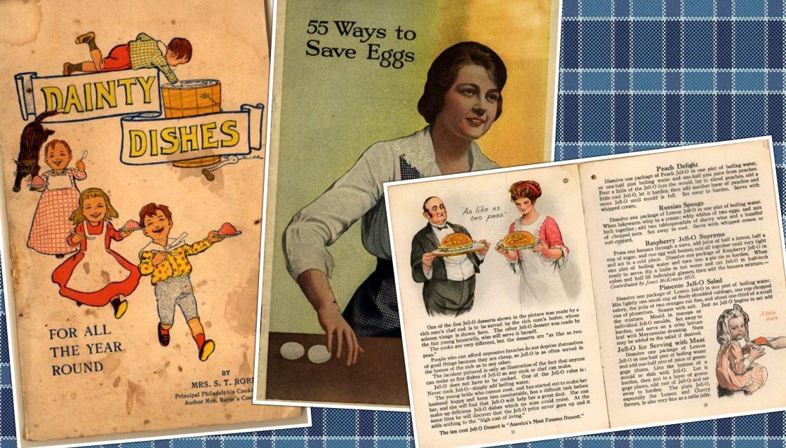 82 libros de cocina antiguos, gratis, en Internet