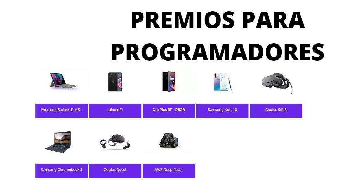 Si eres programador, puedes ganar gratis un Galaxy Note 10, un iPhone 11 y mucho más