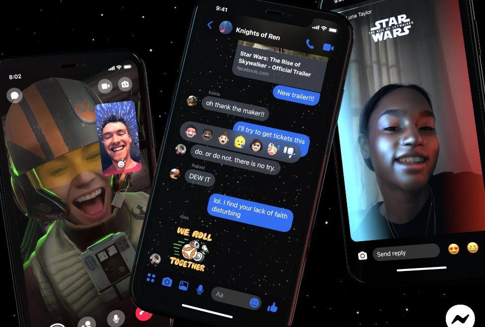 Facebook presenta los temas inspirados en Star Wars