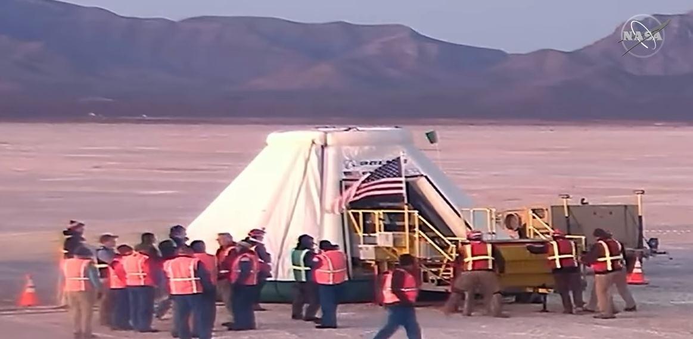 Nueva nave espacial no tripulada aterriza de forma segura en el desierto