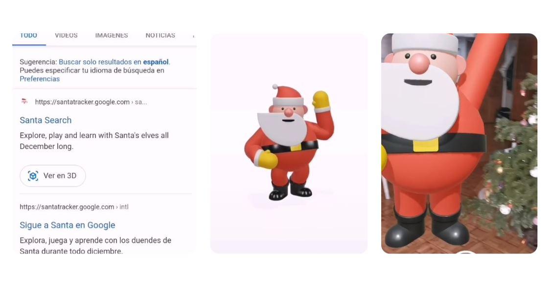 Cómo ver a Papá Noel en 3D en nuestra casa