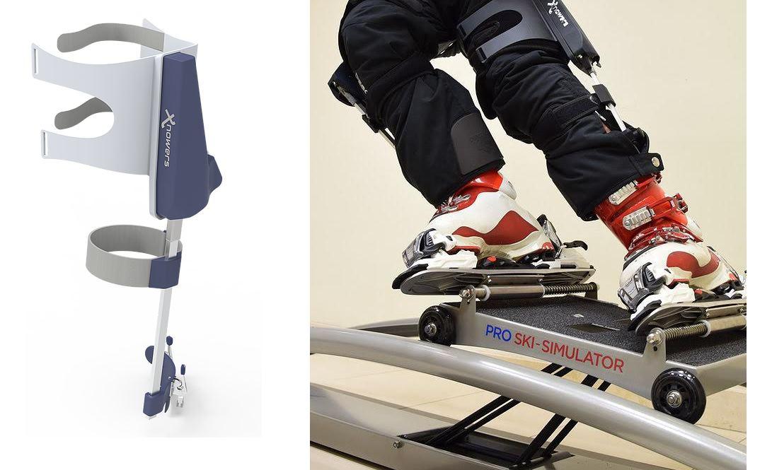 Un exosqueleto para quien practica deportes de nieve