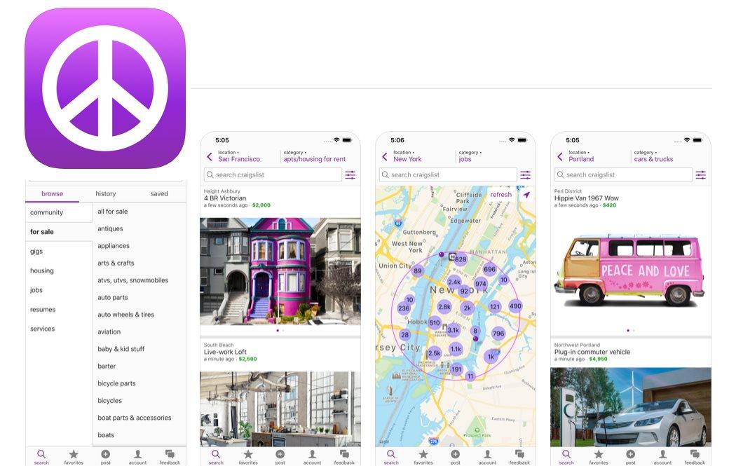 Craigslist, nacida en 1995, por fin tiene app móvil oficial