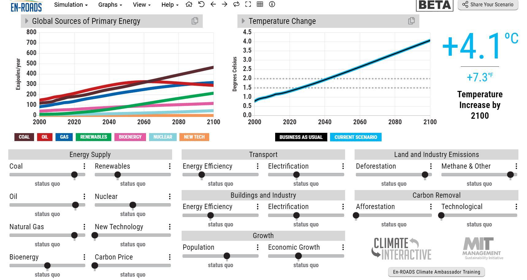 Un simulador online del cambio climático