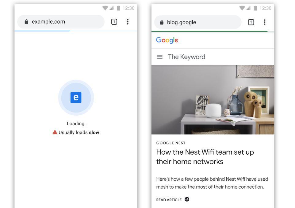 Así mostrará Google a las webs que no carguen rápido