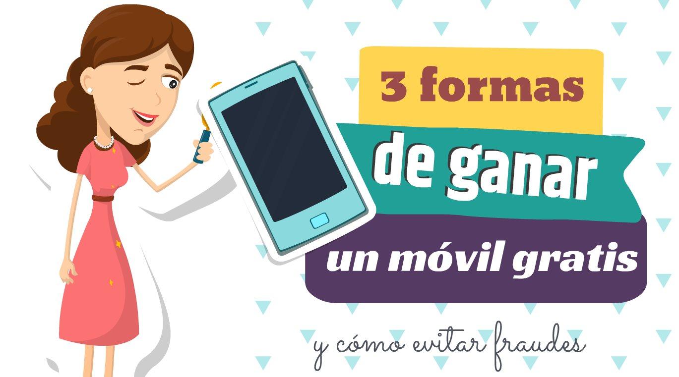 3 formas de ganar móviles gratis en Internet