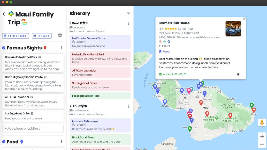 Una excelente web gratuita para planificar viajes