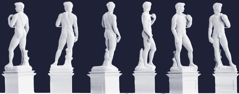impresion 3D de la escultura El David de 1mm de alto